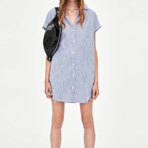 Zara Button Down Shirt Dress